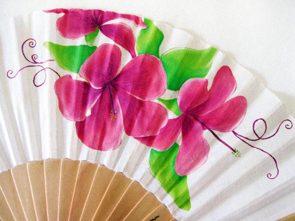 Abanico Contrastes: flores primaverales