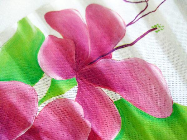 Abanico Contrastes: Detalle cercano de flor
