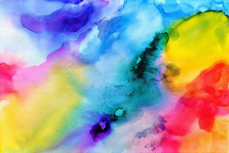 cuadro acuarelas colores